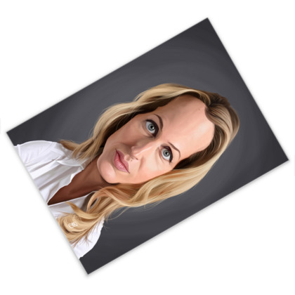 Gillian Anderson Celebrity Caricature Postcard