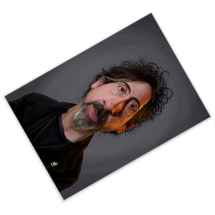 Tim Burton Celebrity Caricature Postcard