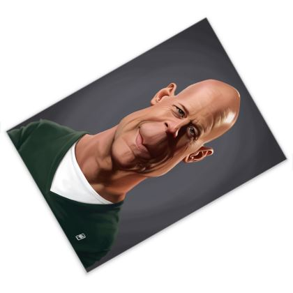 Bruce Willis Celebrity Caricature Postcard