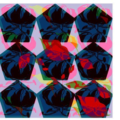 kimono geo tropical