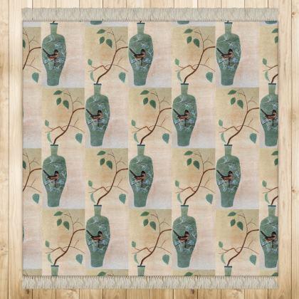 Floor Runner with 'Vase Oiseaux' design