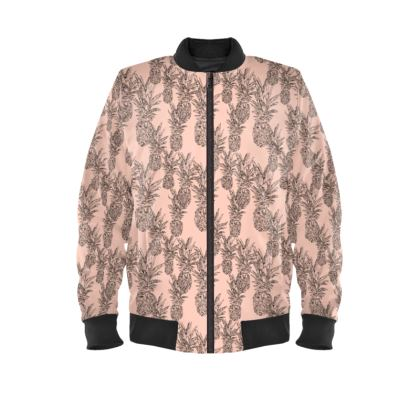 Pineapples Peach Bomber Jacket