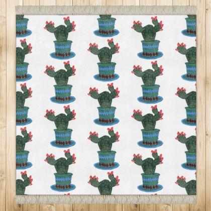 Flowering Cactus Print Rug