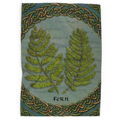 Celtic Fern Tea Towel