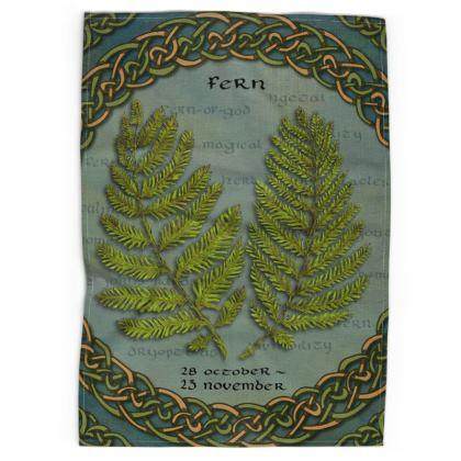 Tree Calendar Fern Tea Towel
