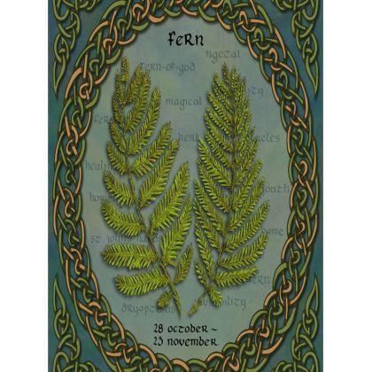 Tree Calendar Fern Tray