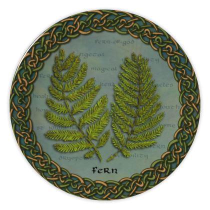 Celtic Fern China Plate