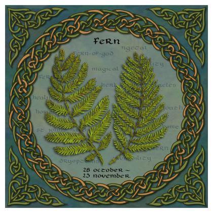 Tree Calendar Fern Serving Platter