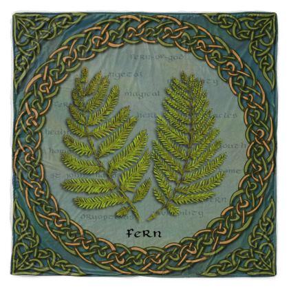 Celtic Fern Throw Blanket