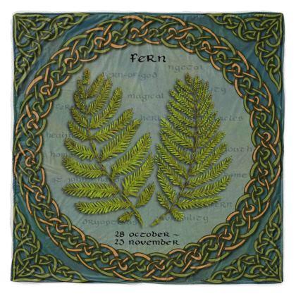 Tree Calendar Fern Throw Blanket