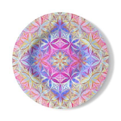Decorative Plate Kaleidoscope Flower Of Life 2