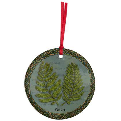 Celtic Fern Hanging Ornament