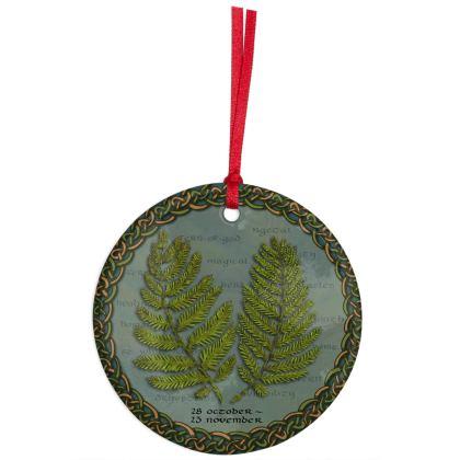 Tree Calendar Fern Hanging Ornament