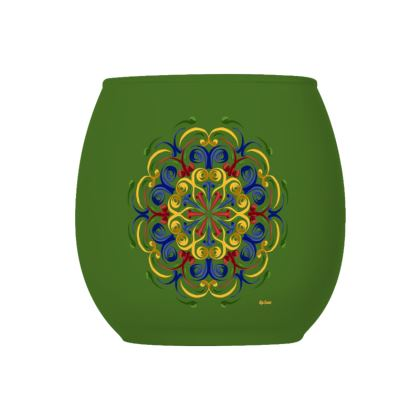 Primary Life, Green Glass Tealight Holder