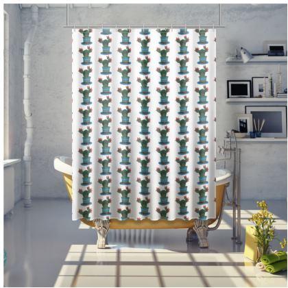 Shower Curtain in 'Crazy Cactus' design