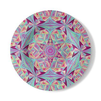 Decorative Plate Handdraw Kaleidoscope