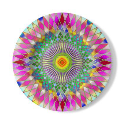 Decorative Plate Disco Mandala