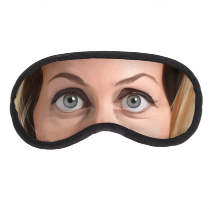 Gillian Anderson Celebrity Caricature Eye Mask