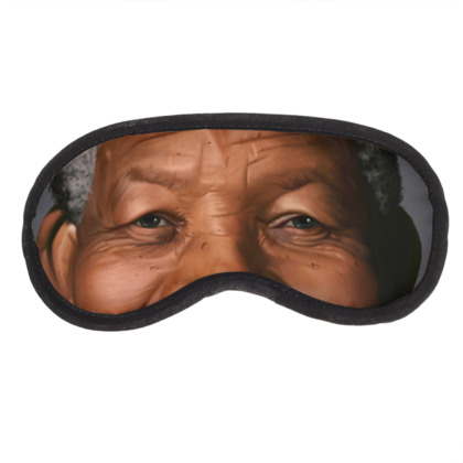 Nelson Mandela Celebrity Caricature Eye Mask