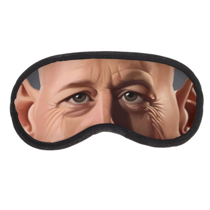 Bruce Willis Celebrity Caricature Eye Mask