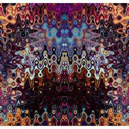 Kimono Jacket Brown Splashes