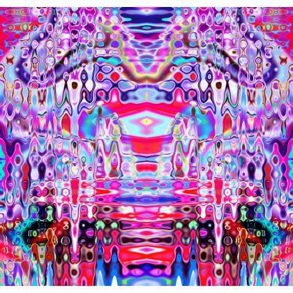 Kimono Jacket Purple Splashes