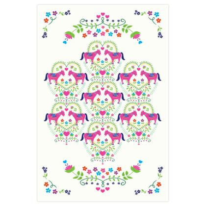 Patterned Donkey Love Art Print
