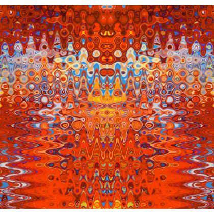 Kimono Jacket Orange Splashes