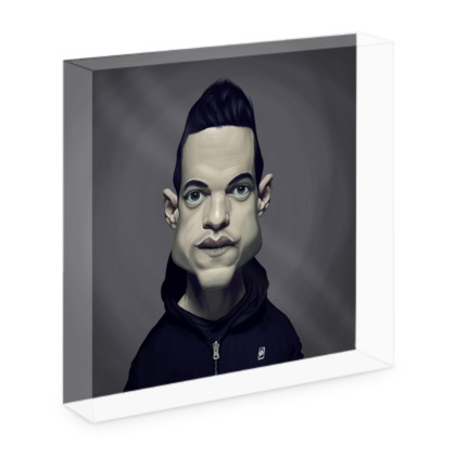 Rami Malek Celebrity Caricature Acrylic Photo Blocks