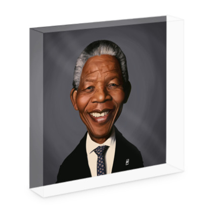 Nelson Mandela Celebrity Caricature Acrylic Photo Blocks