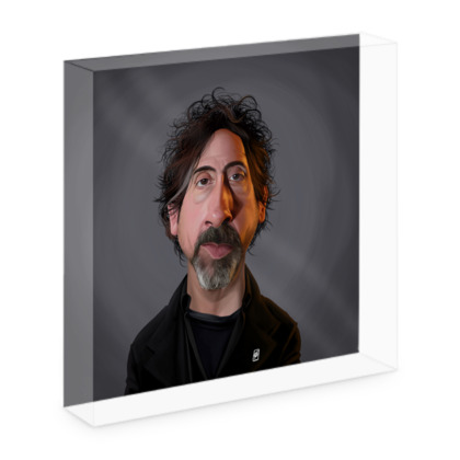 Tim Burton Celebrity Caricature Acrylic Photo Blocks