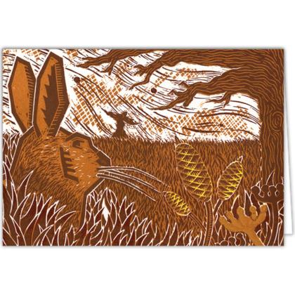Wild Hare Card Design