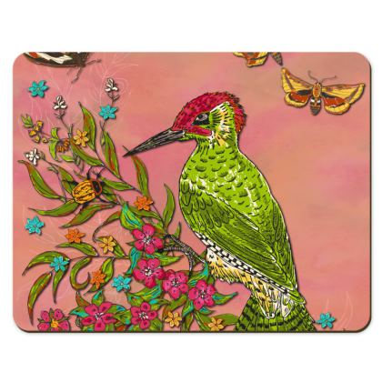 Floral Woodpecker Placemats