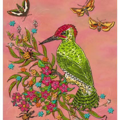 Floral Woodpecker Coasters