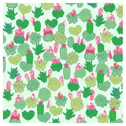Crystal Cactus Ladies Bomber Jacket