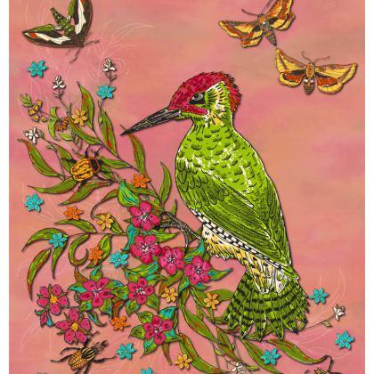 Floral Woodpecker Cushion