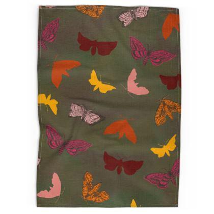 Butterflies & Moths Tea Towel
