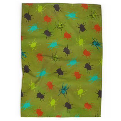 Bugs & Beetles Tea Towel