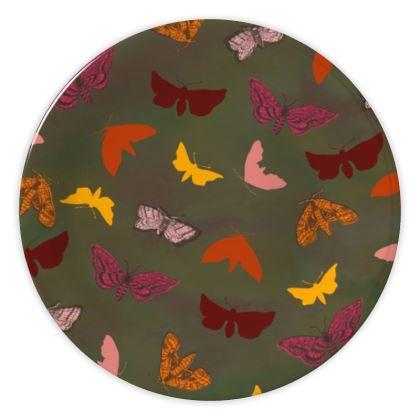 Butterflies & Moths China Plate