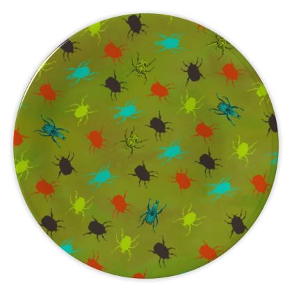 Bugs and Beetles China Plate