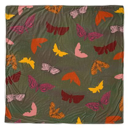 Butterflies & Moths Throw Blanket