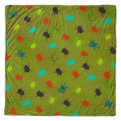 Bus & Beetles Throw Blanket