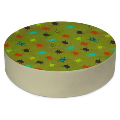 Bugs & Beetles Round Floor Cushion
