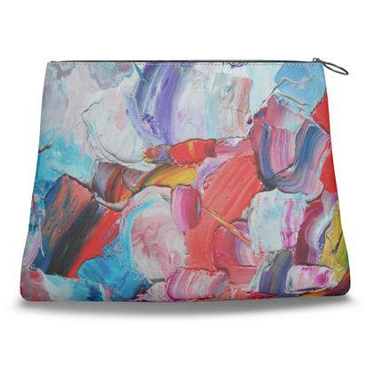 Palette Swirl Clutch Bag