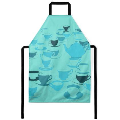 Apron - Tea party turquoise