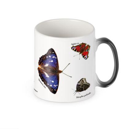Heat Changing Mug - Mirrored Butterflies