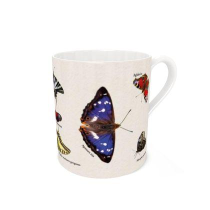 Bone China Mug - Mirrored Butterflies