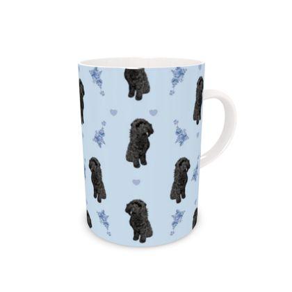 Black Cockapoo bone china mug