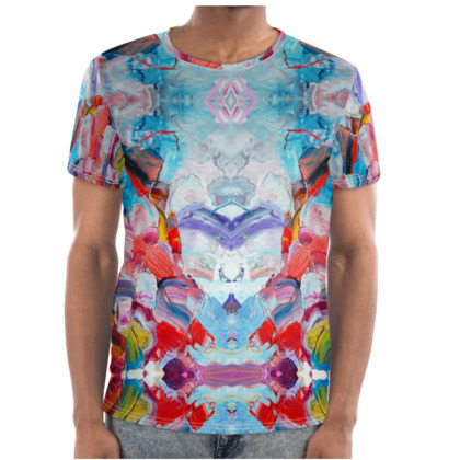 Abstraction Cut and Sew T Shirt