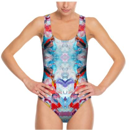Mirror Abstraction Swimsuit
